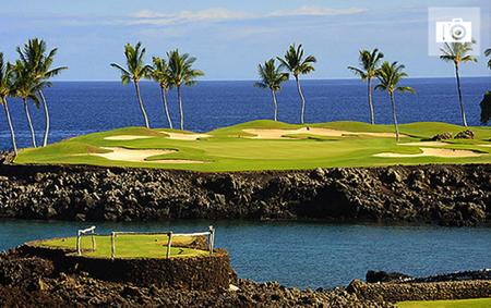 ハワイ島のゴルフコース