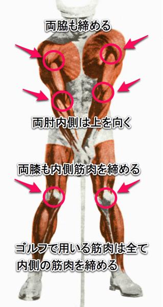 アドレスの筋肉