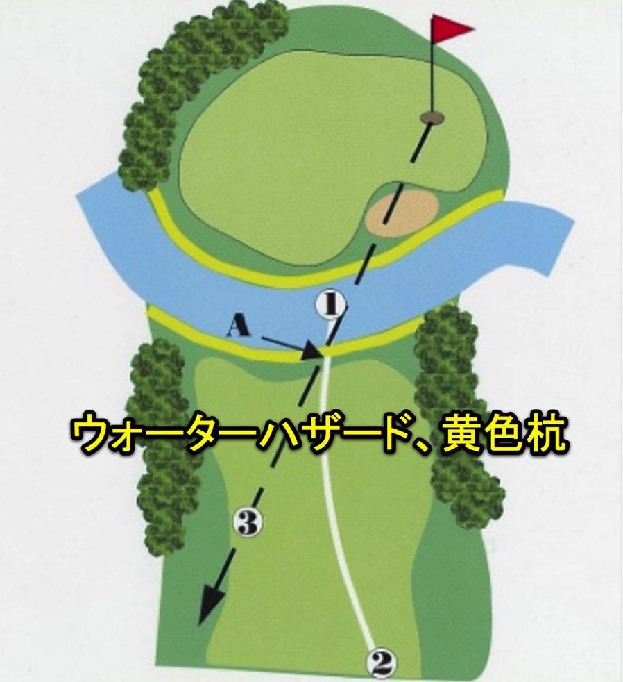 ゴルフ、池に入った時の正しいルール、処置の仕方は?