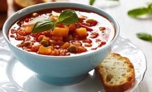 野菜のスープはゴルフの食事に良い