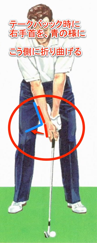 ゴルフ スウィングのタメは右腕と右手首がポイント、これで飛距離が出せる。