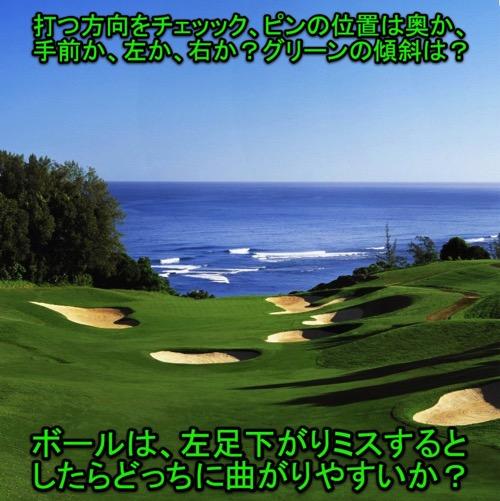 ゴルフは決断のスポーツ フェアウェイやグリーン周りでの決断